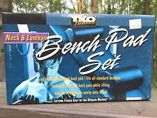 TKO Fitness WEIGHT BENCH PAD SET - Neck & Lumbar Back Pads - FITS ALL BENCHES