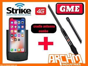 APPLE IPHONE X - STRIKE MOBILE PHONE CRADLE PRO + GME 7DBI ANTENNA