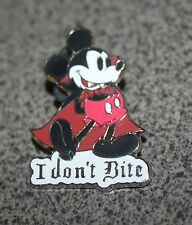 DISNEY PIN MICKEY MOUSE I DON'T BITE VAMPIRE NOT SO SCARY HALLOWEEN PARTY