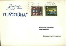 Schiffspost Bordpost Stempel TT FORTUNA 1966 Ship Shipletter Brief gelaufen