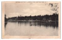 Cottages on the St. Lawrence River near Oak Point, NY Postcard