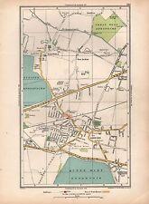1936 grande échelle Vintage London Map Stanwell East Bedfont Ashford Littleton com