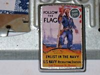 New Windproof ZIPPO USA Lighter 79368 Follow the Flag Enlist in t Navy St Chrome