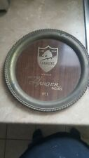 San Diego Chargers silver commissioned Platter 1971