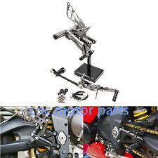 Grey CNC Rearsets Rear Sets Footpegs Pedals For TRIUMPH DAYTONA 675R 2006-2012