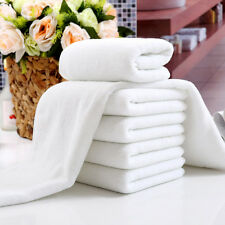1x New White Soft Cotton Hotel Bath Towel Washcloths Travel Hand Towels Useful