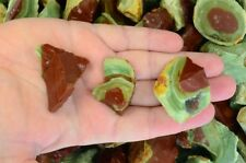 NEW FIND - 5 lbs of Watermelon Jasper Rough Stones from Mexico - Tumble Rocks