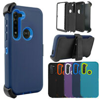 For Motorola Moto G8 Power Case Holster Belt Clip Fit Otterbox/Screen Protector