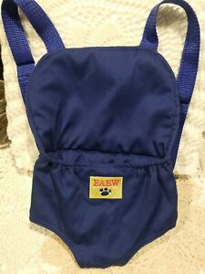 Build a Bear BABW Backpack Bear/Baby Doll Carrier Blue~Excellent Condition