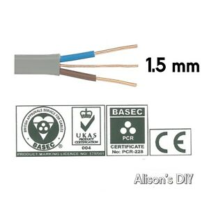 1.5 mm Twin and Earth T&E Electric Cable Wire   Domestic Electrical Lighting