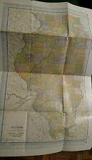 Vintage Hammonds Modern Atlas Of The World 1911 ILLINOIS Free Shipping