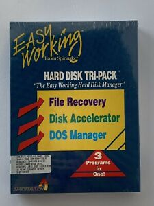 "Spinnaker IBM 5.25"" Hard Disk Tri-Pack File Recovery Accelerator DOS Manager NIB"