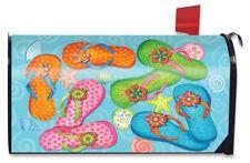 Summer Flip Flops Nautical Magnetic Mailbox Cover Seashells Briarwood Lane