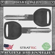 2 NEW KEYS HONDA & ACURA HD103 UNCUT REPLACEMENT KEYS PLASTIC HEAD FREE SHIPPING