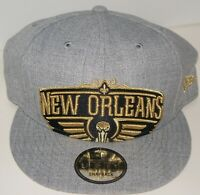 New Orleans Pelicans New Era 9Fifty Shady Crop Grey Snapback Hat Adjustable Cap