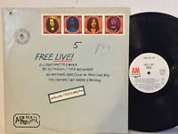 Free Live VG+ A&M ORIG WLP WHITE LABEL PROMO, ENVELOPE COVER psych All Right Now