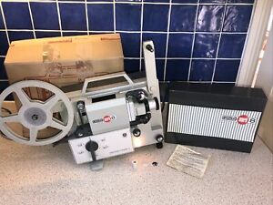 Eumig Mark 8 Super 8 Standard 8 Retro Cine Reel Film Movie Projector Boxed Works