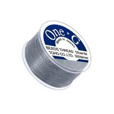 Toho One-G 0.2mm 100% Nylon Japanese Beading Thread Grey 50yd Spool (Q109/3)