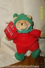 "Hallmark 7"" Santas Little Friend Elf Bear #25 Plush With Tag"