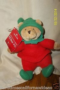 "Hallmark 7"" Santas Little Friend Elf Bear #25 Plush With Tag"