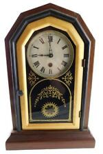 """Jerome & Co. """"Oct Prize"""" 30 hour time only shelf clock, c. 1860, rose. Lot 169"""