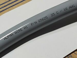 Alpha Wire 65625 16/25C XtraGuard-Flex Power/Control Cable 90C 600V Gray /5ft