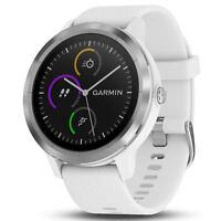 Garmin Vivoactive 3 GPS Fitness Smartwatch, White & Stainless (010-01769-21)
