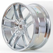 4 GWG Wheels 22 inch Chrome ZERO Rims 22x9 fits 5x108 JAGUAR XJ - XJL 2010-2012