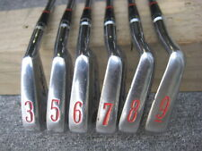 BEN HOGAN MEDALLION IRONS. 3 + 5 to 9 iron. Used. Right Hand. Regular shaft.3175