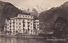 Interlaken Hotel Bellevue Switzerland Postcard Unused VGC