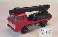 Majorette 1/100 DAF 2600 LKW Elevateur Kranwagen rot/schwarz #491