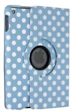 Apple iPad 2 3 4 Blue Polka Dot Case protector Design Smart 360° Rotating Cover
