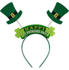 WIGGLY HEADBAND ST PATRICKS DAY IRELAND IRISH FANCY DRESS X09 749