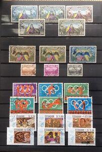 ÉQUATEUR  Lot de timbres-poste