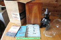 Bausch & Lomb Dynoptic Labroscope Microscope Vintage 1950's Wooden Box Antique