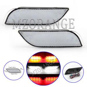 LED Rear Bumper Brake Light Reflector Lamp For Subaru Impreza WRX STI White Lens