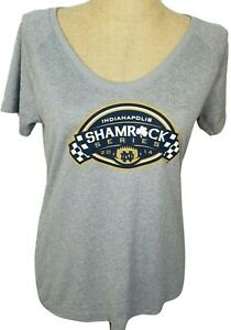 Under Armour Notre Dame 2014 Shamrock Series Gray T-Shirt Large