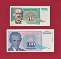 YUGOSLAVIA 10 Dinara P-138 1994 UNC World Currency