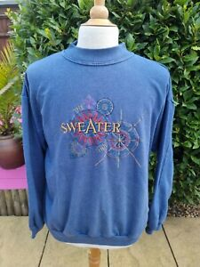 Vintage 90s The Sweater Shop Embroidered Sweatshirt M/L