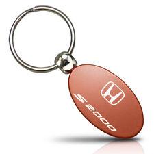 Honda S2000 Orange Aluminum Oval Key Chain
