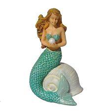Miniature Mermaid w Shell MG232   Fairy Garden Dollhouse Terrarium