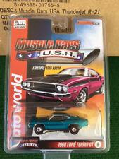 New Auto World R 21 Tjet Teal 68 Ford Torino GT HO Slot Car Run on Aurora & Tomy