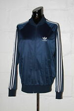 VTG Adidas ATP KeyRolan Polyester Blue Trefoil Stripes Track Jacket USA Sz M