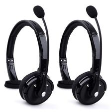 2X Over The Head Boom Mic Bluetooth Noise-Canceling Headset For Trucker Drivers