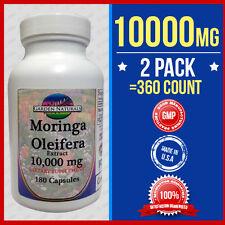 2 Pack Moringa Oleifera Extract 10,000mg =360 Caps Herb Anti-Aging+More Benefits