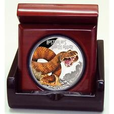 2016 $1 Deadly and Dangerous Death Adder 1oz Silver Proof Coin NUMBERED: 139