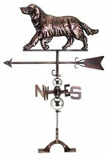 Stainless Steel Retriever Weathervane Bronze Copper Finish Dog Lovers Hunters