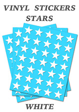 80 White Star Merit Stickers - Self Adhesive Vinyl Labels size 9mm each