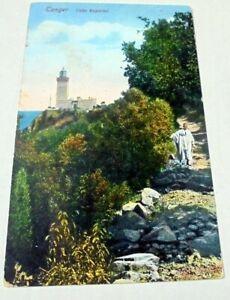 OLD PPC: TANGER~MOROCCO~CABO ESPARTEL~1911~ANIM~GERMAN POST~CAPE SPARTEL~ARÉVALO