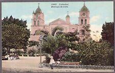 VINTAGE 1900'S CATHEDRAL SANTIAGO DE CUBA CHURCH VIEW OLD CUBAN LITHO POSTCARD